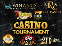 Register at Winward Casino and Play Tournaments - 1st place - $750!